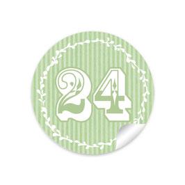 Adventskalenderzahlen - Retro - grün