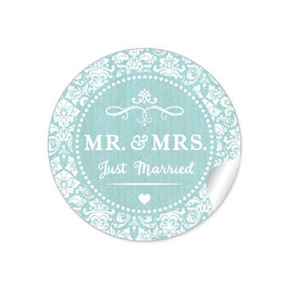 """MR. and MRS.  - Just married"" - Ornamente - mint"