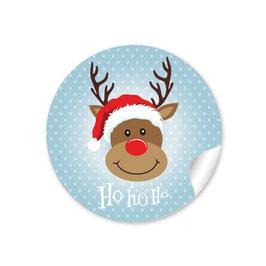 """""""Ho Ho Ho"""" - Rudolph - blaugrau"""