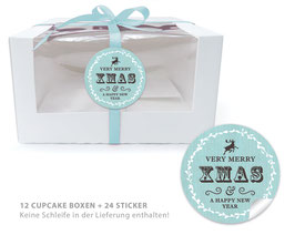 "BIO BOX SET - ""Merry XMAS"" Retro - mint"