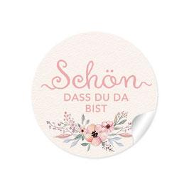"""""""Schön, dass du da bist"""" - Blumen -Pastell"""