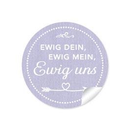 """""""Ewig dein, ewig mein, ewig uns""""- Shabby Chic Style - lila"""