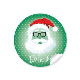 """Ho Ho Ho"" -  Hipster Nikolaus - dunkelgrün"