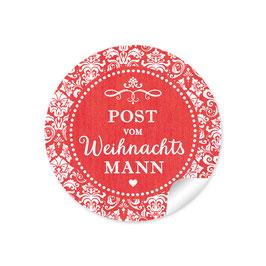 """""""Post vom Weihnachtsmann"""" -  Retro Vintage - rot"""