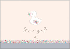 """It´s a girl!"" - Ente - Creme"