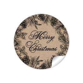 """Merry Christmas""- Weihnachtsskranz - Kraftpapier Look"