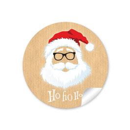 """""""Ho Ho Ho"""" -  Hipster Nikolaus - natur"""