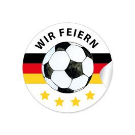 """""""Wir feiern"""" - Fußball -  schwarz rot gold"""