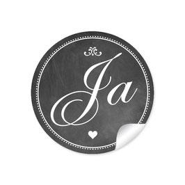 """""""Ja"""" - Vintage Retro - Kreidetafel schwarz"""