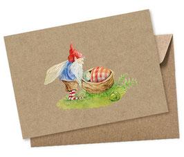 WICHTEL MIT BABY 1 Postkarte + Umschlag