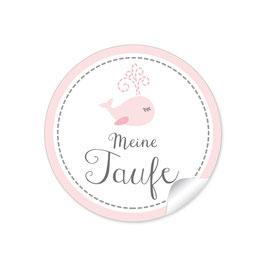 """""""Meine Taufe"""" - Walfisch - rosa"""