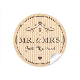 """MR. and MRS.  - Just married"" - Vintage Retro - natur"