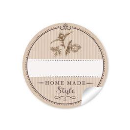 """""""Home Made Style""""- Kräuter - hellbraun - mit Freitextfeld"""