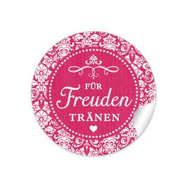 """Für Freudentränen"" - Vintage Ornamente - fuchsia rot"