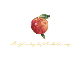 """An Apple each Day""  - Apfel -  Weiß"