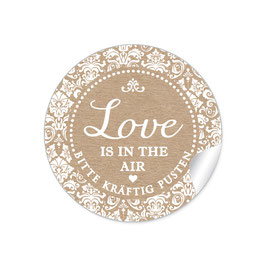 """Love ist in the Air"" - Shabby Chic - natur / Kraftpapier-Look"