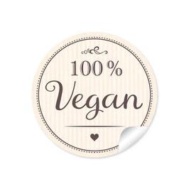 """""""100% Vegan"""" - creme"""