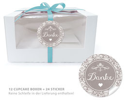 "BIO BOX SET - ""Danke"" Shabby Chic - sand"
