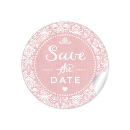 """Save the Date"" - Vintage  Retro Ornamente - rosa"