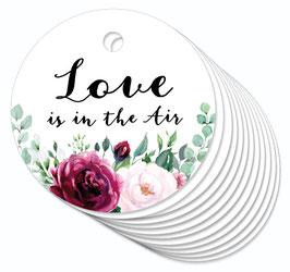 12 ANHÄNGER • Love is in the Air • Boho Rosen rot rosa