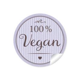 """""""100% Vegan"""" - lila"""