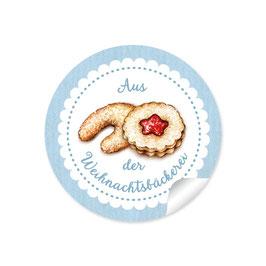 """""""Aus der Weihnachtsbäckerei""""- Gebäck - blau"""