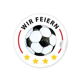 """Wir feiern"" - Fußball - weiß rot gold"