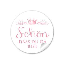 """""""Schön, dass du da bist"""" - Krone  - rosa"""