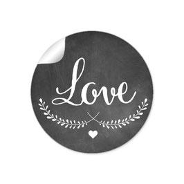 """""""LOVE"""" - Kreidetafel - schwarz weiß"""