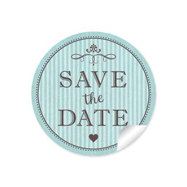 """Save the Date"" - Vintage Ornamente - mint"
