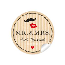 """MR. and MRS.  - Just married"" - Hipster - natur"