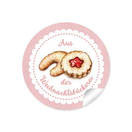 """Aus der Weihnachtsbäckerei""- Gebäck - rosa"