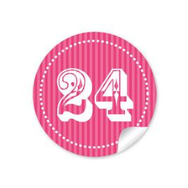 Adventskalenderzahlen - pink