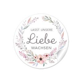 """""""Lasst unsere Liebe wachsen"""" - Blütenkranz - Pastell altrosa"""