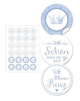 Krone - blau - gemischt