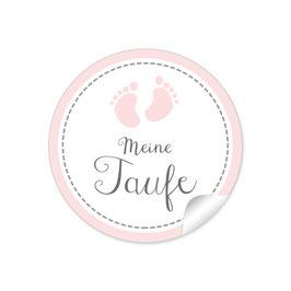 """""""Meine Taufe"""" - Babyfüßchen - rosa"""