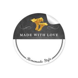 MADE WITH LOVE- HOMEMADE STYLE PFIFFERLING - Kreidetafel schwarz weiß - mit Freitextfeld BREIT
