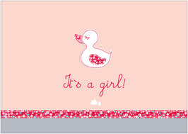 """It´s a girl!"" - Ente - Rot"