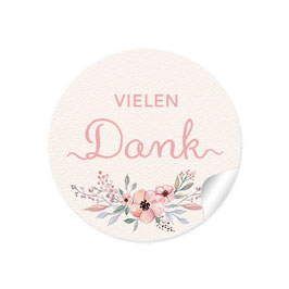"""""""Vielen Dank"""" - Blüten - Pastell  rosa"""