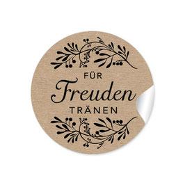 """""""Für Freudentränen"""" - Blütenzweig - Kraftpapier Look"""