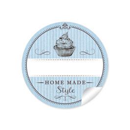 """Home Made Style""- Cupcake - blau"
