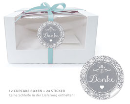 "BIO BOX SET - ""Danke"" Shabby Chic - grau"