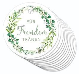 12 ANHÄNGER • Freudentränen • Zweige Kranz grün