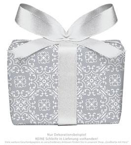 3 Bögen Geschenkpapier groß - Ornamente - grau