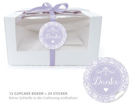 "BIO BOX SET - ""Danke"" Shabby Chic - lila"