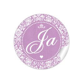 """Ja"" - Shabby Chic Style - dunkel lila"