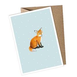 FUCHS 1 Postkarte + Umschlag