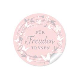 """""""Für Freudentränen"""" - Schmetterlinge - rosa"""