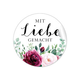 MIT LIEBE GEMACHT - Rosen Boho rot rosa