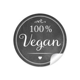 """""""100% Vegan"""" - schwarz"""